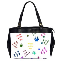 Animals Pets Dogs Paws Colorful Office Handbags (2 Sides)