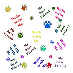 Animals Pets Dogs Paws Colorful Magic Photo Cubes