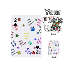 Animals Pets Dogs Paws Colorful Playing Cards 54 (mini)