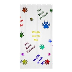 Animals Pets Dogs Paws Colorful Shower Curtain 36  X 72  (stall)
