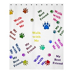 Animals Pets Dogs Paws Colorful Shower Curtain 60  X 72  (medium)