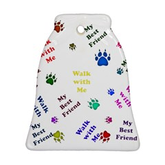 Animals Pets Dogs Paws Colorful Bell Ornament (Two Sides)