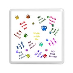 Animals Pets Dogs Paws Colorful Memory Card Reader (square)