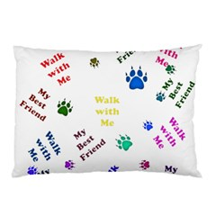 Animals Pets Dogs Paws Colorful Pillow Case (two Sides)