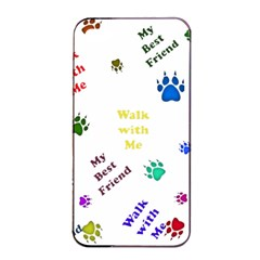 Animals Pets Dogs Paws Colorful Apple Iphone 4/4s Seamless Case (black)