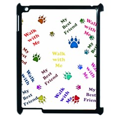 Animals Pets Dogs Paws Colorful Apple Ipad 2 Case (black)