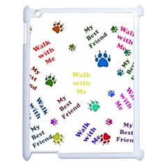 Animals Pets Dogs Paws Colorful Apple Ipad 2 Case (white)