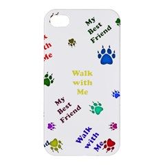 Animals Pets Dogs Paws Colorful Apple Iphone 4/4s Hardshell Case