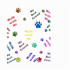 Animals Pets Dogs Paws Colorful Small Garden Flag (two Sides)