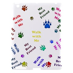Animals Pets Dogs Paws Colorful Apple Ipad 3/4 Hardshell Case (compatible With Smart Cover)