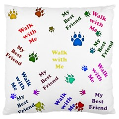 Animals Pets Dogs Paws Colorful Large Cushion Case (one Side)
