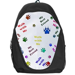 Animals Pets Dogs Paws Colorful Backpack Bag