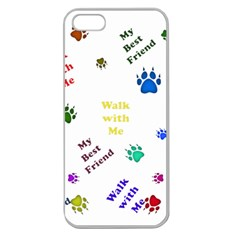 Animals Pets Dogs Paws Colorful Apple Seamless Iphone 5 Case (clear)