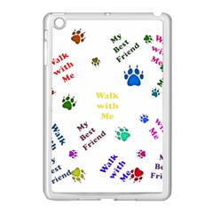 Animals Pets Dogs Paws Colorful Apple Ipad Mini Case (white)