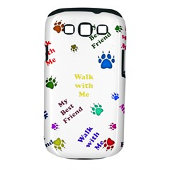 Animals Pets Dogs Paws Colorful Samsung Galaxy S Iii Classic Hardshell Case (pc+silicone)