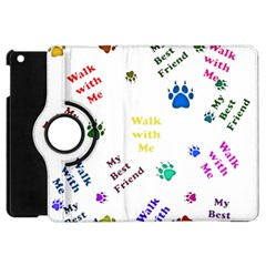 Animals Pets Dogs Paws Colorful Apple Ipad Mini Flip 360 Case