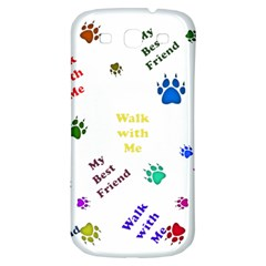 Animals Pets Dogs Paws Colorful Samsung Galaxy S3 S Iii Classic Hardshell Back Case