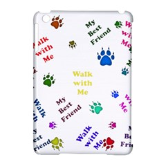 Animals Pets Dogs Paws Colorful Apple Ipad Mini Hardshell Case (compatible With Smart Cover)