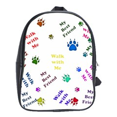 Animals Pets Dogs Paws Colorful School Bags (xl)