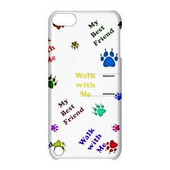 Animals Pets Dogs Paws Colorful Apple Ipod Touch 5 Hardshell Case With Stand