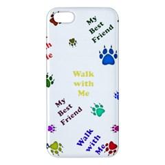Animals Pets Dogs Paws Colorful Apple Iphone 5 Premium Hardshell Case