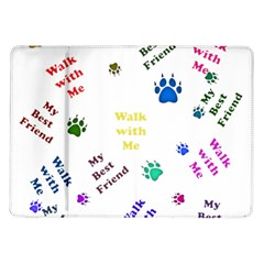 Animals Pets Dogs Paws Colorful Samsung Galaxy Tab 10 1  P7500 Flip Case