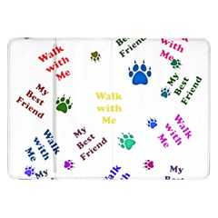 Animals Pets Dogs Paws Colorful Samsung Galaxy Tab 8 9  P7300 Flip Case