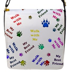 Animals Pets Dogs Paws Colorful Flap Messenger Bag (s)