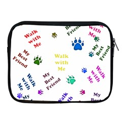 Animals Pets Dogs Paws Colorful Apple Ipad 2/3/4 Zipper Cases