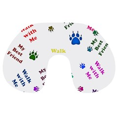 Animals Pets Dogs Paws Colorful Travel Neck Pillows