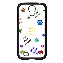 Animals Pets Dogs Paws Colorful Samsung Galaxy S4 I9500/ I9505 Case (black)