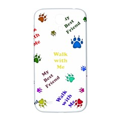 Animals Pets Dogs Paws Colorful Samsung Galaxy S4 I9500/i9505  Hardshell Back Case