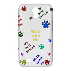 Animals Pets Dogs Paws Colorful Samsung Galaxy Mega 6 3  I9200 Hardshell Case