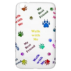 Animals Pets Dogs Paws Colorful Samsung Galaxy Tab 3 (8 ) T3100 Hardshell Case