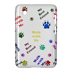 Animals Pets Dogs Paws Colorful Samsung Galaxy Tab 2 (7 ) P3100 Hardshell Case