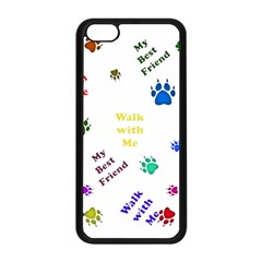 Animals Pets Dogs Paws Colorful Apple Iphone 5c Seamless Case (black)