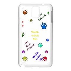 Animals Pets Dogs Paws Colorful Samsung Galaxy Note 3 N9005 Case (white)