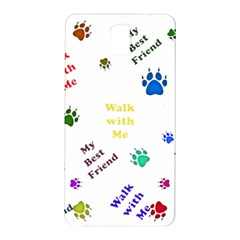 Animals Pets Dogs Paws Colorful Samsung Galaxy Note 3 N9005 Hardshell Back Case