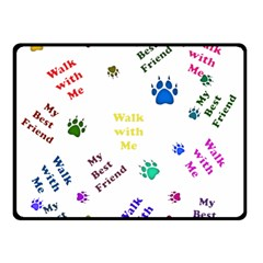 Animals Pets Dogs Paws Colorful Double Sided Fleece Blanket (small)
