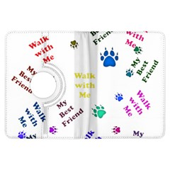 Animals Pets Dogs Paws Colorful Kindle Fire Hdx Flip 360 Case