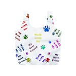 Animals Pets Dogs Paws Colorful Full Print Recycle Bags (S)  Back