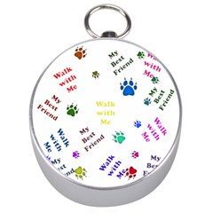 Animals Pets Dogs Paws Colorful Silver Compasses