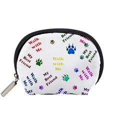 Animals Pets Dogs Paws Colorful Accessory Pouches (small)
