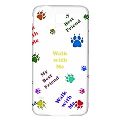 Animals Pets Dogs Paws Colorful Samsung Galaxy S5 Back Case (white)