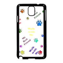 Animals Pets Dogs Paws Colorful Samsung Galaxy Note 3 Neo Hardshell Case (black)