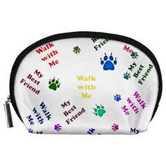Animals Pets Dogs Paws Colorful Accessory Pouches (large)