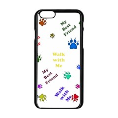Animals Pets Dogs Paws Colorful Apple Iphone 6/6s Black Enamel Case