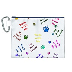 Animals Pets Dogs Paws Colorful Canvas Cosmetic Bag (xl)