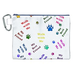 Animals Pets Dogs Paws Colorful Canvas Cosmetic Bag (xxl)
