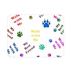 Animals Pets Dogs Paws Colorful Double Sided Flano Blanket (mini)